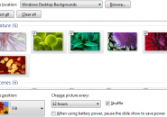 custom wallpaper slideshow in windows 7