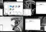 Aliens White Elegant + Xtraz Windows 7 Visual Styles