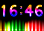 Digital Clock Color Screensaver