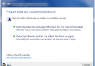 install and uninstall troubleshooter