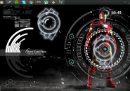 Black Eyed Windows7 Rainmeter Theme
