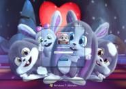 Bunny Party Windows7 Logon Screen