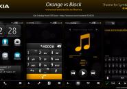 Orange Vs Black Rainmeter Theme for Windows7