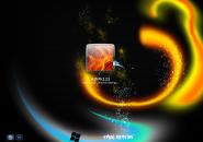 Rainbow Swirl Windows7 Logon Screen