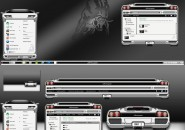 Silvery Black Windows Blind Theme
