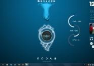 Hacker V3 Rainmeter Theme for Windows7
