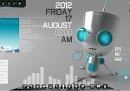 Robot1 Windows7 Rainmeter Theme