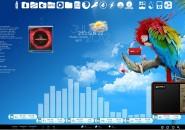 Tropical Breeze Rainmeter Theme for Windows7