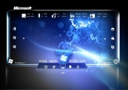 Blue Magic Rainmeter Theme for Windows7