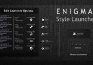 Enigma Style Launcher Rainmeter Theme