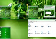 Green Gem Visual Style Theme for Windows7