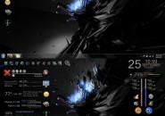Hidden Consalt Rainmeter Theme for Windows7