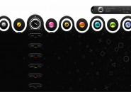PS3 Swivel Rainmeter Theme for Windows7