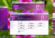 Purple Flower Visual Style Theme for Windows7