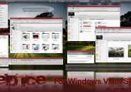 Red Ice visual Style Theme for Windows7