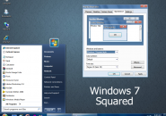 Squared Visual Style for Windows7