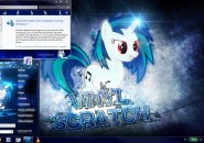 Vinyl Scratch Visual Styles for Windows7