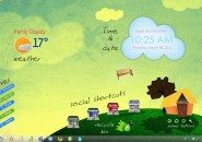 Wonderful Life Rainmeter Skin