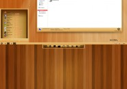 Wood Texture Visual Style for Windows7