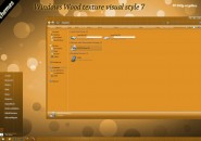 Wood Texture Visual Styles for Windows7