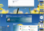 Yellow Clear Visual Style Theme for Windows7