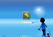 Boy Cat Logon Screen for Windows7