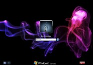 Color Smoke Logon Screen for Windows7