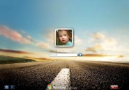 Lonely Road Logon Screen for Windows7