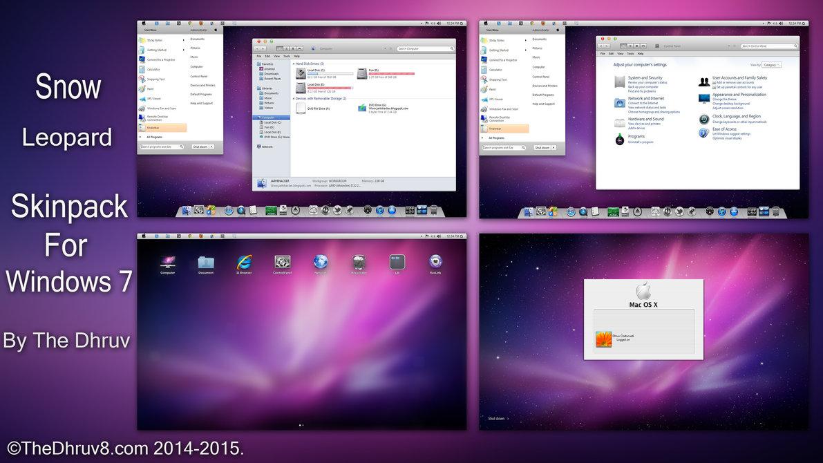 Mac os leopard theme for windows 7.